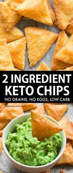 Healthy Low Carb Recipes, Keto Recipes, Cooking Recipes, Low Carb Dinner Recipes, Drink Recipes, Healthy Food, Low Carb Chips, Keto Tortillas, Comida Keto