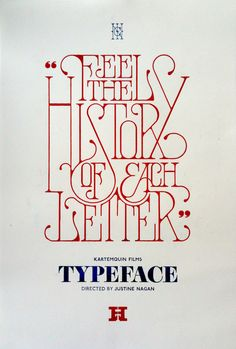 TYPEFACE Film by Daren Newman, via Behance