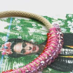 collier grand cordon frida artiste, arty, art, collection , nouvelle spring summer 2015 printemps ete bobo boheme rose pink vintage