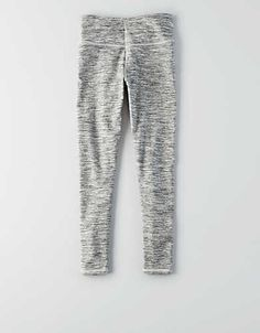 AEO Crop Hi-Rise Legging , Grey | American Eagle Outfitters