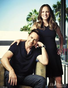 Robert Downey Jr & Susan Downey for The Hollywood Reporter - 2014 Hollywood Couples, Celebrity Couples, The Hollywood Reporter, Hollywood Actor, Robert Downey Jr Wife, Susan Downey, Celebrity Biographies, Iron Man Tony Stark, Portraits