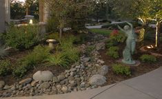 Dry Creek Bed Landscape Design Ideas, Pictures, Remodel and Decor Dry Riverbed Landscaping, Rustic Landscaping, Succulent Landscaping, Hillside Landscaping, Front Yard Landscaping, Landscaping Ideas, Mountain Landscape, Landscape Design, Garden Design