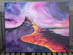 "Christine Bowron: ""Lindisfarne Illuminated"", acrylics on canvas."
