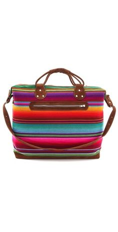 Isabel Weekender, serape fabric, mexican inspired print