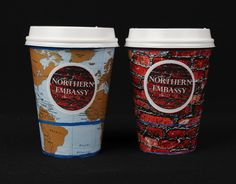 Still working on my coffee brand, as part of my marketing materials I designed a set of takeout coffee cups. The theme of my cafe was modern rustic hard wood furniture with the cultural feeling. I used a map of the world to represent the changes in culture and travel. I used the red brick from the logo on the cup as I felt it worked well being repented as it gave the brand a stronger consistency. Using Illustrator I created a net base and placed my images in the correct position.