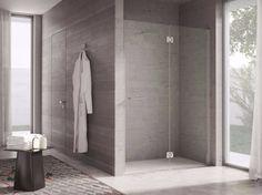 Box doccia a nicchia con porte a battente PROJECT by IdeaGroup