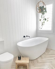 """Here's what Claudia says about our made with essential oils: """"Texture on pattern, pattern on texture Bathroom Renos, Laundry In Bathroom, Master Bathroom, Bathroom Ideas, Bathroom Vanities, Simple Bathroom Designs, Modern Bathroom, Costal Bathroom, Bathroom Green"""