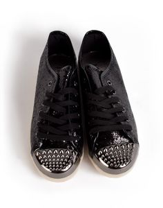 Studded Glitter Sneakers//
