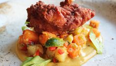 The Fat Ham   Country fried chicken lobster