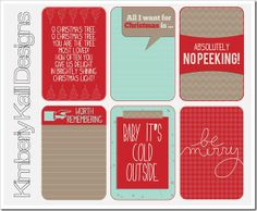Free Tis the Season Journal Cards from Kimberly Kalil Designs