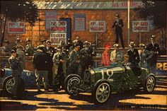 """barry Rowe A second painting titled """"Bugatti Pits 1929"""" was also shown at Amelia Island. - Yahoo Image Search results"""