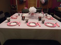 Vintage Barbie party table setting...created by me! :)