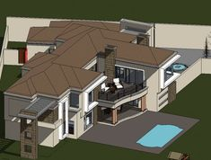 Modern House Plans - South African Architectural Designs - Archid Split Level House Plans, Square House Plans, Metal House Plans, Modern House Plans, Dynamic Architecture, Architecture Company, Architecture Design, House Plans South Africa, African House