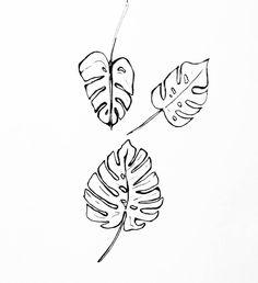 More leaves #plantweek . . . . . . . . #leaves #plants #greenery #monstera #monsteraleaf #monsteraleaves #doodle #dailydoodle #adoodleaday #drawing #pendrawing #penandpaper #illustration #sketchbook #thingsidrew