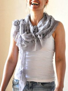 6 Pretty DIY Scarves | The DIY Adventures- upcycling, recycling and do it yourself from around the world.