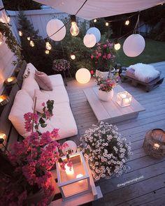 Cozy place via by Garden Design, House Design, Inspire Me Home Decor, Outdoor Living, Outdoor Decor, Dream Rooms, Bedroom Decor, Home And Garden, Porch