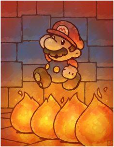 Paper Mario 64: Fire Bars by Cavea.deviantart.com on @DeviantArt