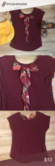 LOVE J bow top Fits smaller then size. More like medium or large. Bow is in the back. Minor pilling but still in good condition. love j Tops Blouses