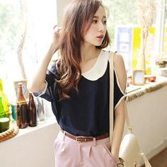 Buy 'Tokyo Fashion – Cutaway-Shoulder Peter Pan-Collar Top' with Free International Shipping at YesStyle.com. Browse and shop for thousands of Asian fashion items from Taiwan and more!