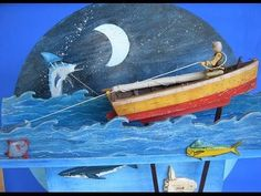 Automaton: The Old Man and the Sea Sea Art, Wood Toys, Old Men, Decoration, Puppets, Sailor, Gears, Steampunk, Old Things