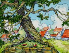 The Old Village Oak    Alida Akers
