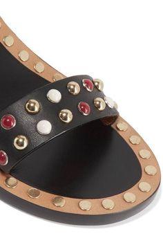 Isabel Marant - Jaeryn Studded Leather Sandals - Black - FR36