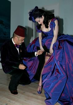 "Christian Louboutin and Dita Von Teese: ""Dita is the ultimate showgirl and top of my list of muses...Some people are naturally sophisticated and Dita's sophistication comes from inside her."""