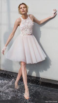 mira zwillinger bridal 2017 sleeveless jewel neck short wedding dress (daisy) mv