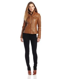 Tommy Hilfiger offer the best Tommy Hilfiger Women's Soft Leather Biker Jacket with Waist Seam Detail, Luggage, Large. This awesome product currently in stocks, you can get this Apparel now for $400.00