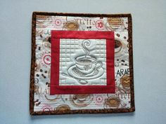 ITH Quilted Coffee Potholders Embroidery Article