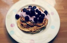 Great and easy recipe for basic protein pancakes! Found at www.myglutenfreegluttony.wordpress.com