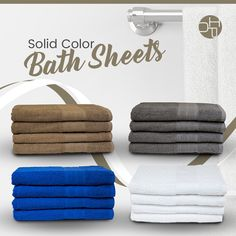 New Solid Color Bath Sheets for hotels and institutions. #linen #bathlinen #hotels #motels #cottages #resorts #airbnbs #hotelier #airbnbhost #omland Airbnb Host, Bath Sheets, Bath Linens, Coloring Sheets, Resorts, Cottages, Hotels, Bathroom Towels, Colouring Sheets