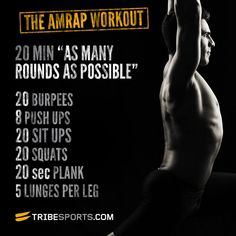 Do AMRAP- As many reps as possible in 20 minutes #quickworkout