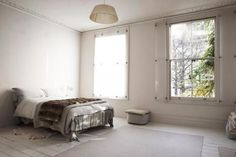 Would be perfect for a bathroom to let light in but not losing privacy opal perspex shutters in a London Bedroom by Parma Lilac: Remodelista