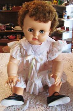 """1959 Ideal Baby Suzy Playpal Doll/ 28""""   $115"""