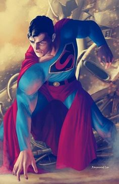 Superman by Raymund Lee I'm a sucker for Golden Age style. Batman Vs Superman, Mundo Superman, Superman Artwork, Superman Family, Superman Man Of Steel, Superman Wonder Woman, Superman Cosplay, Superman Stuff, Superman Movies