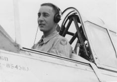 Air Cadet Gus Grissom at the controls of his trainer, a demanding aircraft. (Courtesy of Alfred Joe Dreyer)