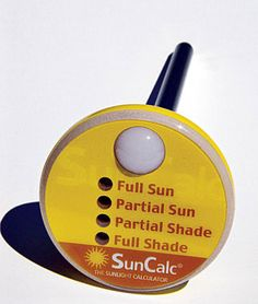 Sun calculator! Put in a spot in your yard to see how much sun it gets so you know what kind of plants you can put there! Great for people that work full time and can't observe this themselves.