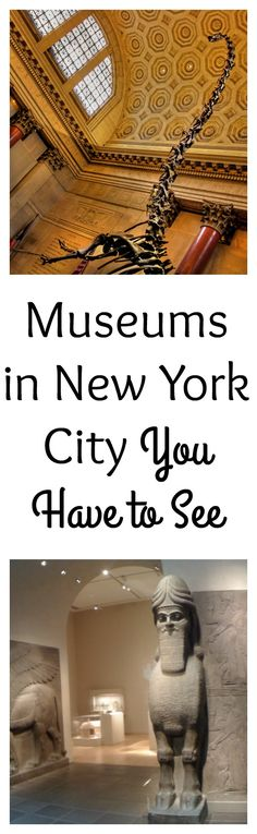 Heading to New York City? Among other things, New York City is known for its museums. There are a lot of museums in New York City.