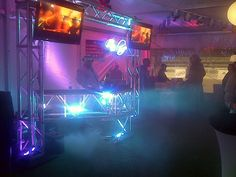 Starlight racing 2012 at the Fairgrounds. Custom DJ booth by James Fonte. Lighting programming provided by SMEC