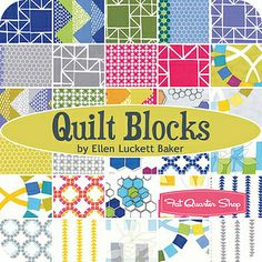Friday's Fabric Giveaway -- Quilt Blocks by Ellen Luckett Baker -- courtesy the Fat Quarter Shop!! by maureencracknell, via Flickr