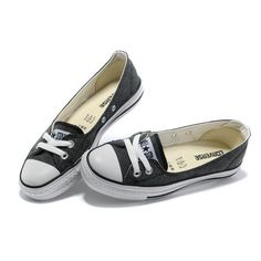 2013 Summer Converse All Star Ballet Flats Ladies Sneakers Denim Black ❤ liked on Polyvore featuring shoes, ballerina shoes, ballerina pumps, kohl shoes, black ballerina shoes and black skimmer
