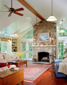 Sherwood Forest House - traditional - living room - boston - Vollertsen Architecture