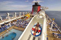 Ride the AquaDuck - the world's first-ever water coaster at sea aboard the Disney Fantasy. #TMOMDisney #familytravel #cruise