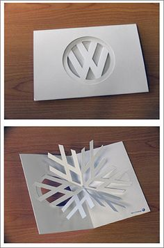 VW laser cut card...would be really cool advertisement around the holiday season!!