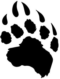 feral bear paw this one Print Tattoos, Tribal Tattoos, Bear Paw Tattoos, Tribal Bear, Bear Paw Print, Bear Claws, Tattoo Outline, Shadow Art, Piercings