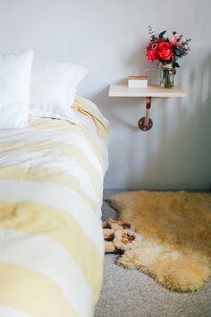 DIY copper bed side table #DIY #copper