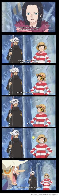 Luffy and Law :D Ahahahahha