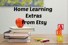 Home Learning Extras from Etsy - Play and Learn Every Day Personalized Pencils, Personalized Notebook, Home Learning, Learning Centers, Outdoor Chalkboard, Easter Breaks, Kawaii Pens, Mud Kitchen, School Sets