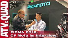EICMA 2016, CF Moto … und hier geht´s zum Video: http://youtu.be/dODcwLtmLNM Der chinesische Hersteller CF Moto präsentiert eine komplette Range an ATVs und Side-by-Sides mit Euro-4-Triebwerken und Hinterachs-Differenzialen. CF-Moto-Verkaufsleiter Charles Ni steht Rede & Antwort